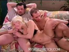 Мужики делят бабу одну на двоих