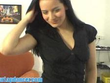 Нескромная девушка в видеочате