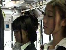 Лесби трахаются в автобусе