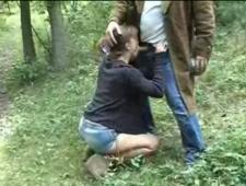 Привел в лес за грибами и оттрахал
