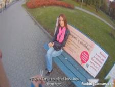 Присунул молоденькой на улице